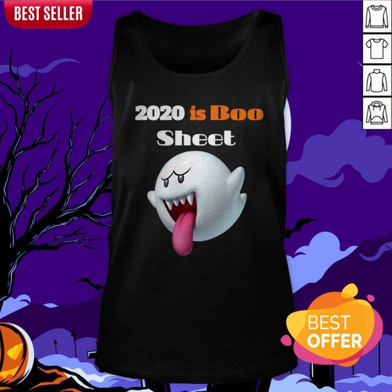 Happy Halloween Day 2020 Is Boo Sheet Tank Top