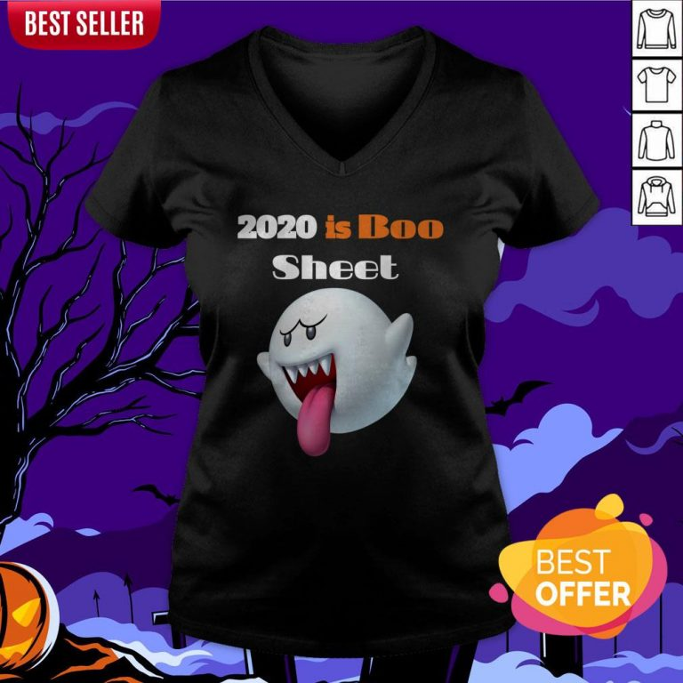 Happy Halloween Day 2020 Is Boo Sheet V-neck