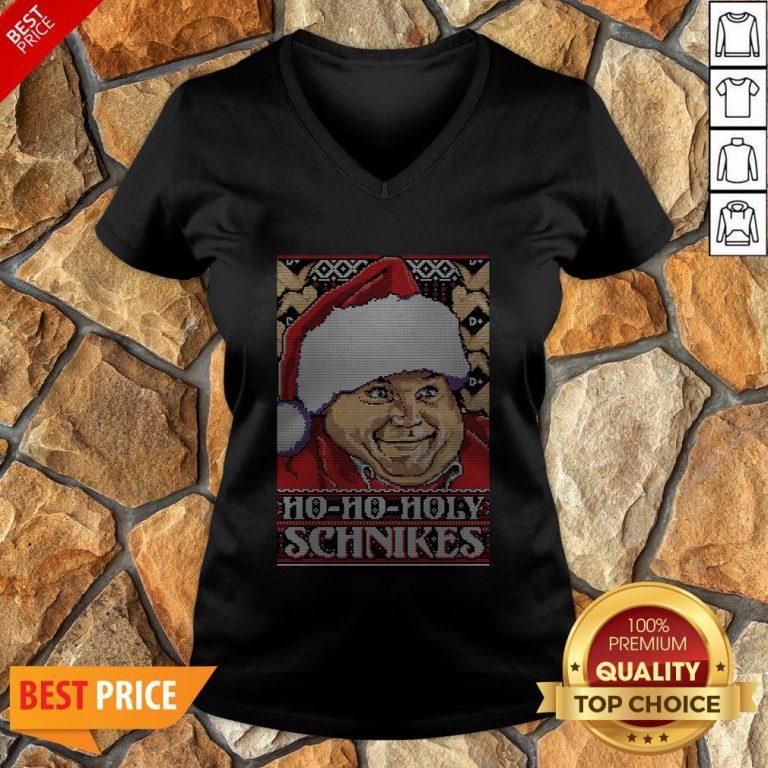 Ho-Ho-Holy Schnikes Christmas V-neck
