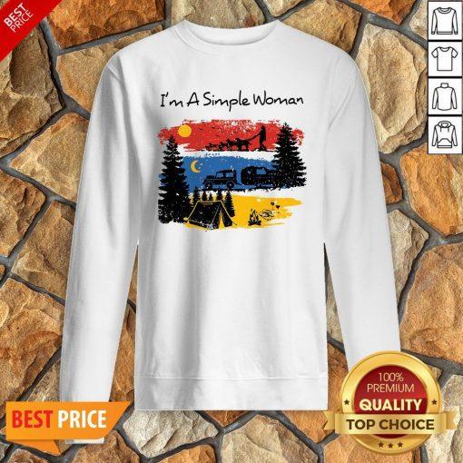 I'm A Simple Woman Christmas Sweatshirt