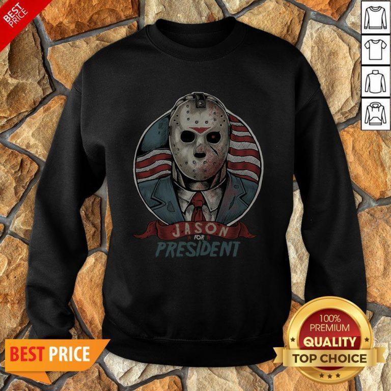 Jason Voorhees For President American Flag Sweatshirt