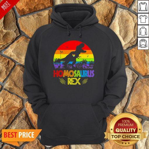LGBT T Rex Homosaurus Rex Vintage Hoodie