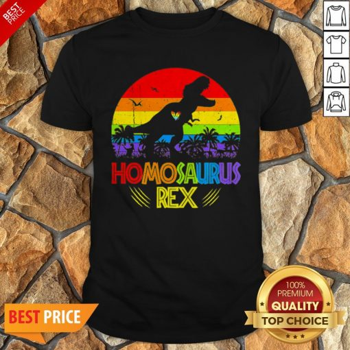 LGBT T Rex Homosaurus Rex Vintage Shirt