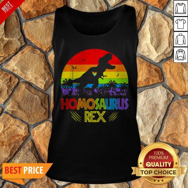 LGBT T Rex Homosaurus Rex Vintage Tank Top