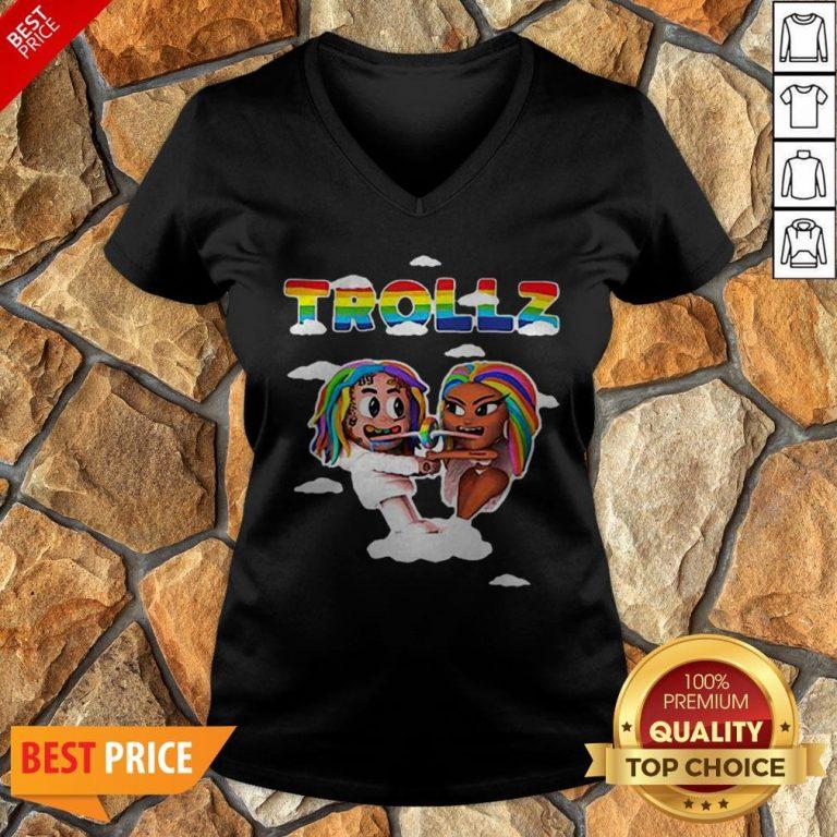 LGBT Trollz 6ix9ine Ft Nicki Minaj V-neck