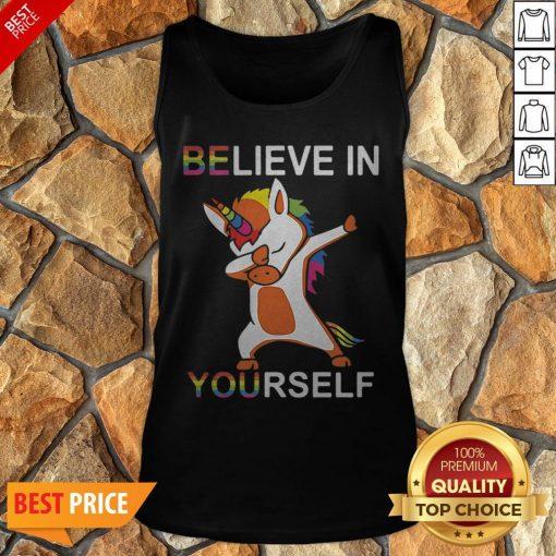 LGBT Unicorn Dabbing Believe In Yourself Tank Top