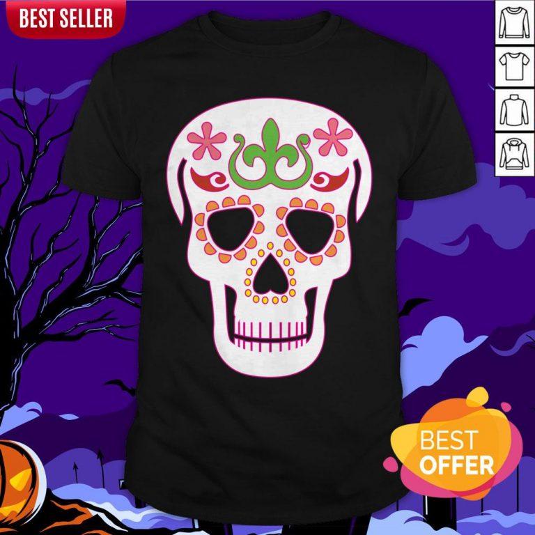 Mrs Sugar Skull Day Of The Dead Shirt
