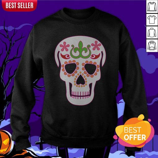 Mrs Sugar Skull Day Of The Dead Sweatshirt