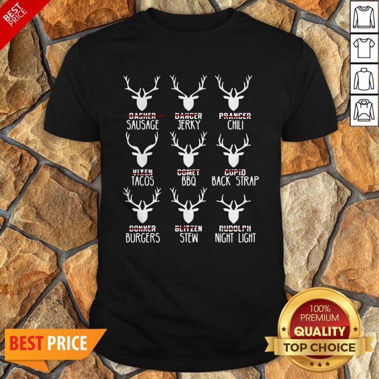Nice Hunters All Of Santa's Reindeer Shirt