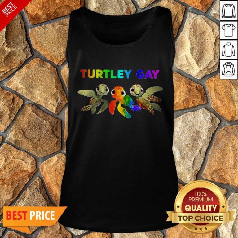 Nice LGBT Turtley Gay LGBT Month Tank Top