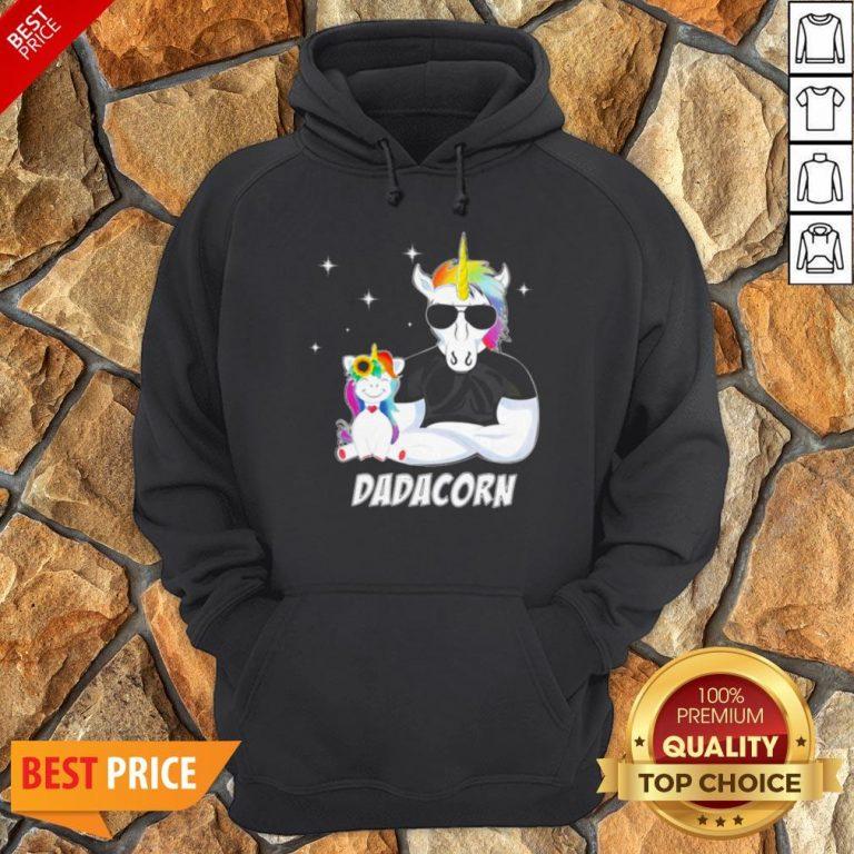 Nice LGBT Unicorn Dad Dadacorn Hoodie