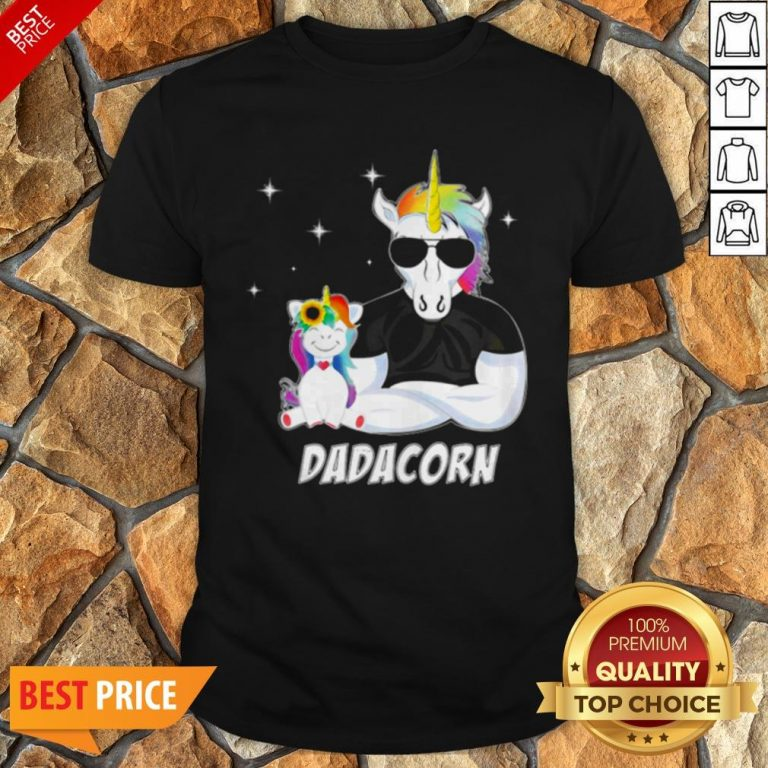 Nice LGBT Unicorn Dad Dadacorn Shirt