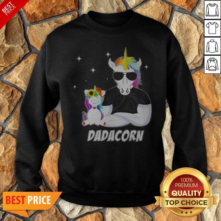 Nice LGBT Unicorn Dad Dadacorn Sweatshirt