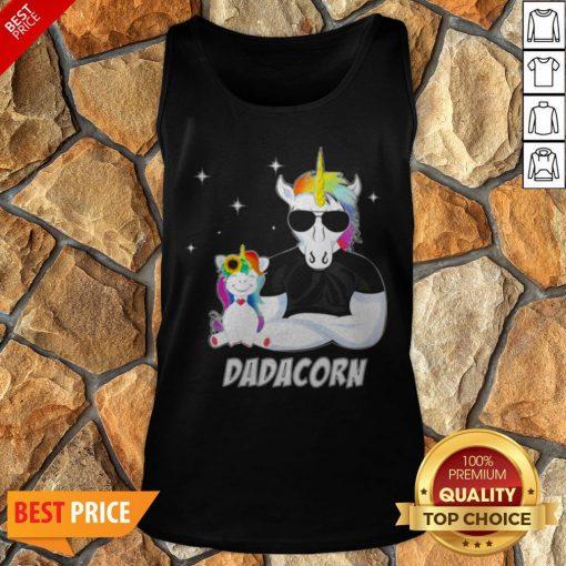 Nice LGBT Unicorn Dad Dadacorn Tank Top