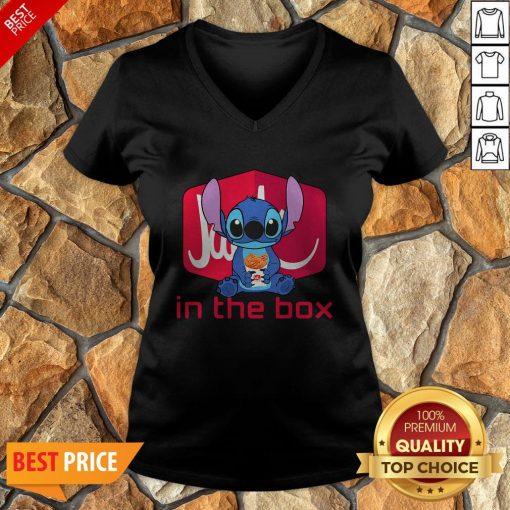 Nice Stitch Hug Jack In The Box V-neck