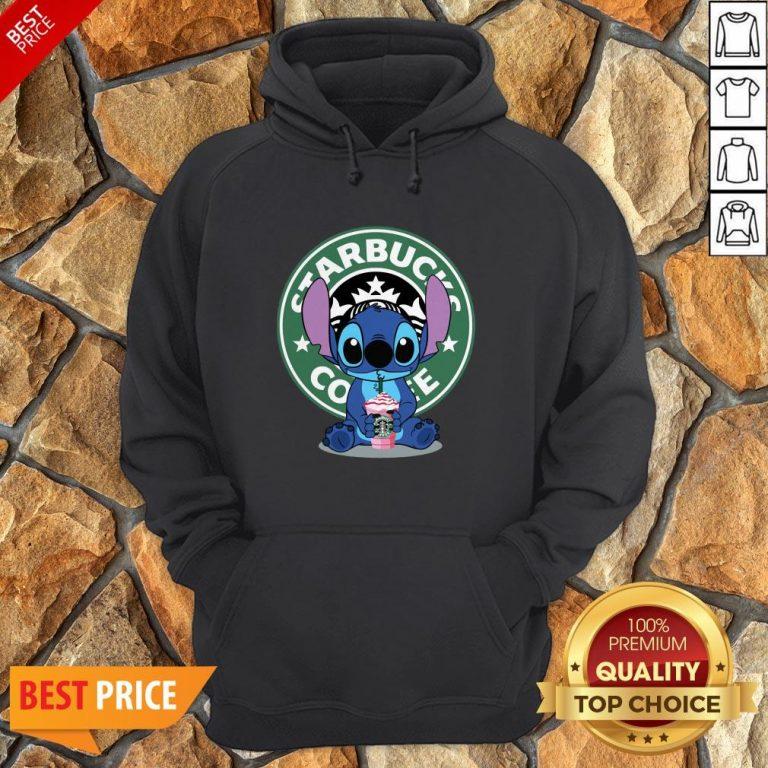 Nice Stitch Hug Starbucks Coffee Hoodie