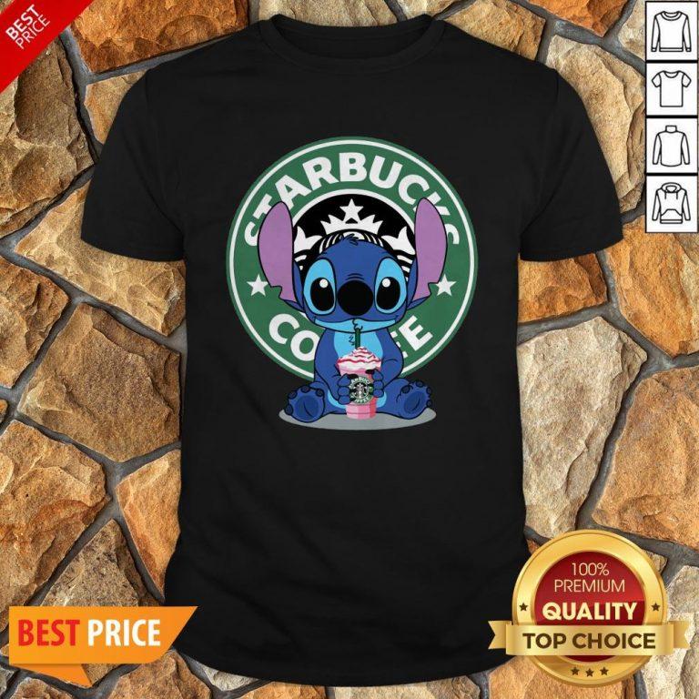 Nice Stitch Hug Starbucks Coffee Shirt