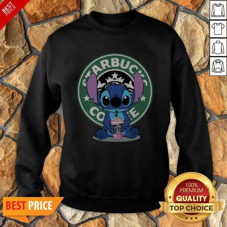 Nice Stitch Hug Starbucks Coffee Sweatshirt
