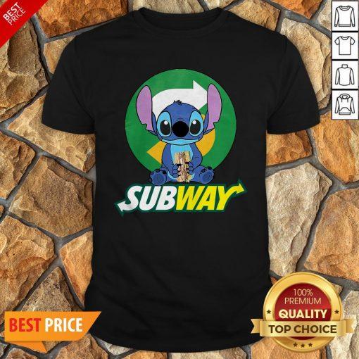 Nice Stitch Hug Subway Shirt