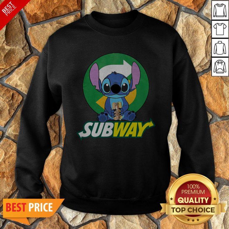 Nice Stitch Hug Subway Sweatshirt