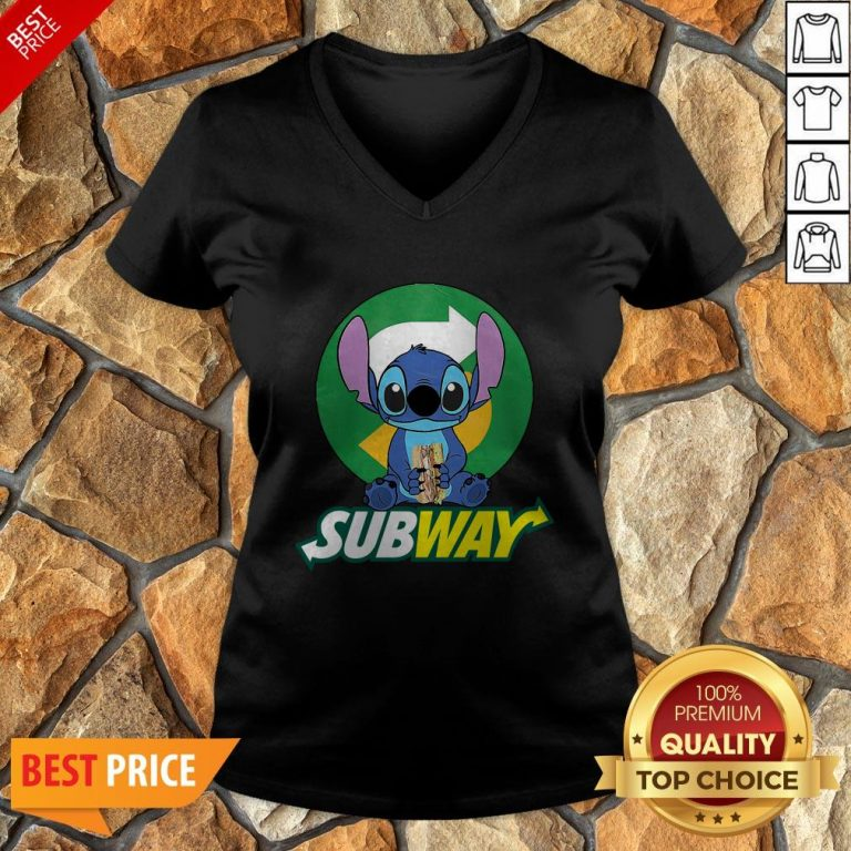 Nice Stitch Hug Subway V-neck