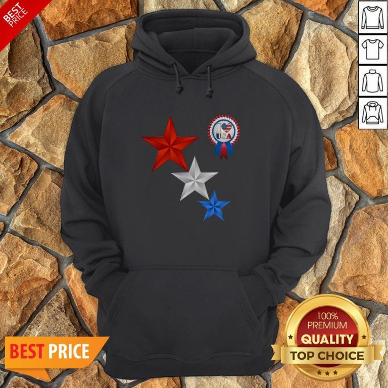 Official 4th Of July I Love USA Hoodie