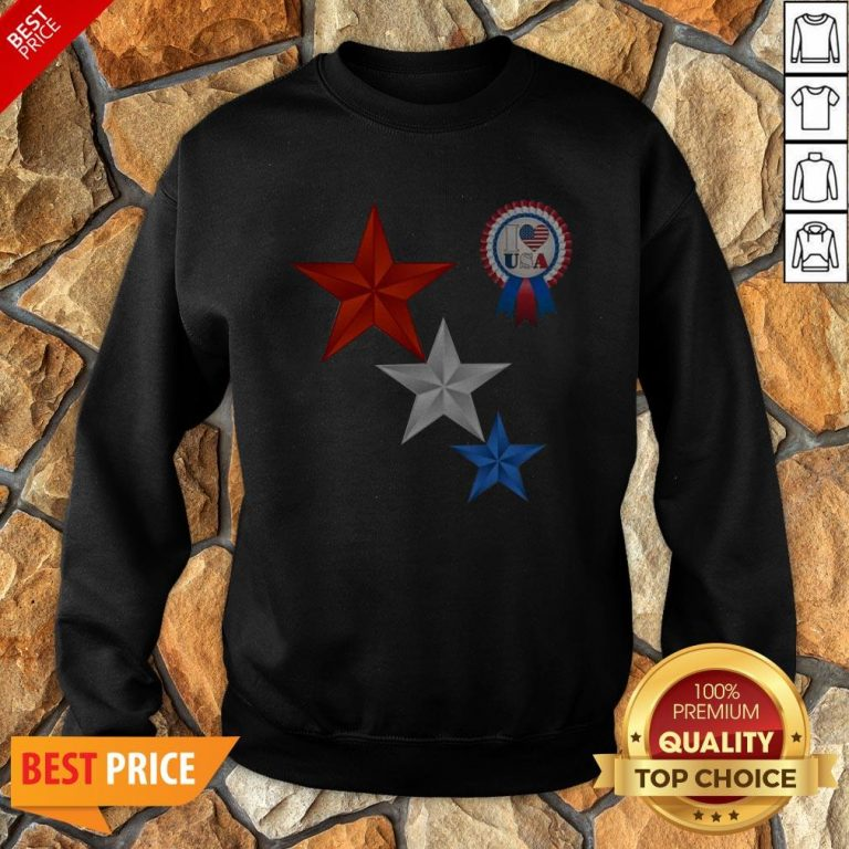 Official 4th Of July I Love USA Sweatshirt