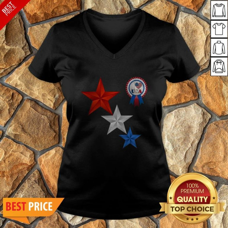 Official 4th Of July I Love USA V-neck