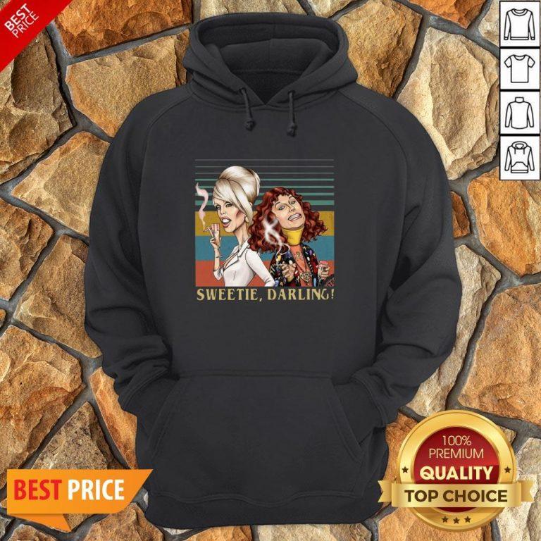 Patsy And Edina Sweetie Darling Vintage Hoodie