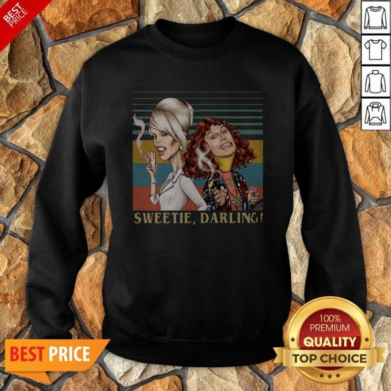 Patsy And Edina Sweetie Darling Vintage Sweatshirt