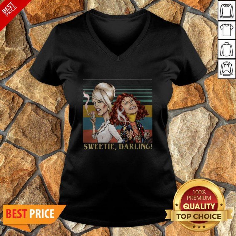 Patsy And Edina Sweetie Darling Vintage V-neck