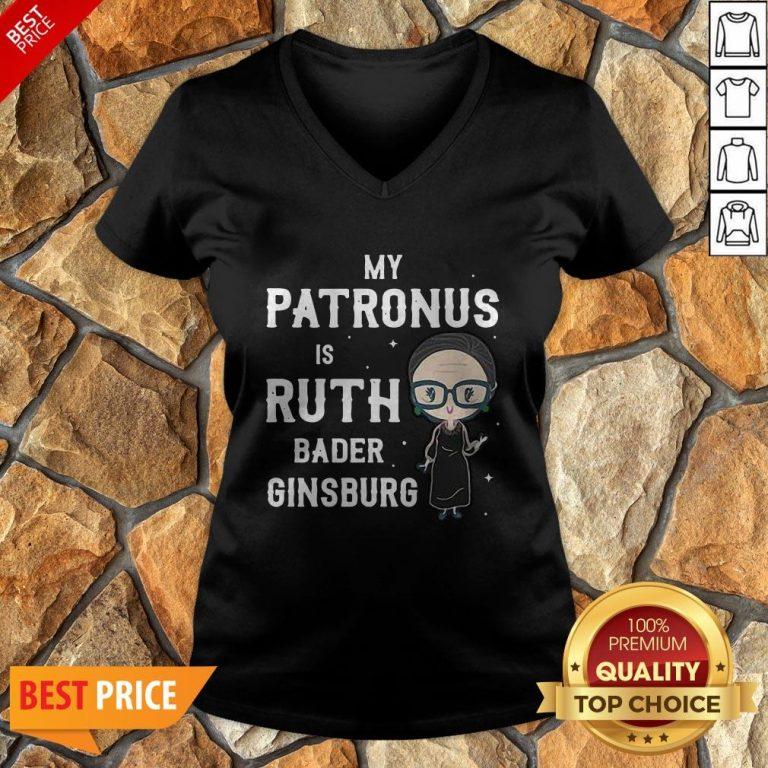 RBG My Patronus Is Ruth Bader Ginsburg V-neck