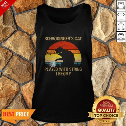 Schrodinger's Cat Played With String Theory Vintage Tank Top