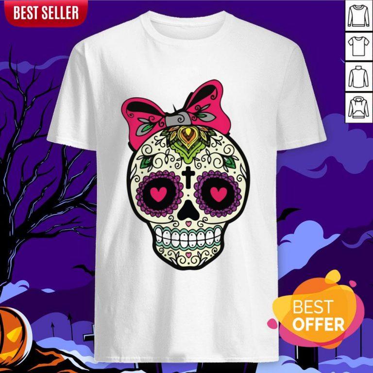 Sugar Skull Lady Dia De Muertos Day Of Dead In Mexican Holiday Shirt