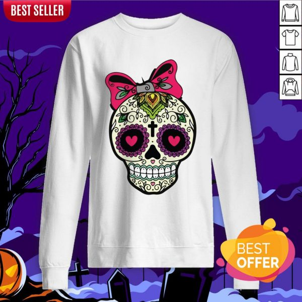 Sugar Skull Lady Dia De Muertos Day Of Dead In Mexican Holiday Sweatshirt
