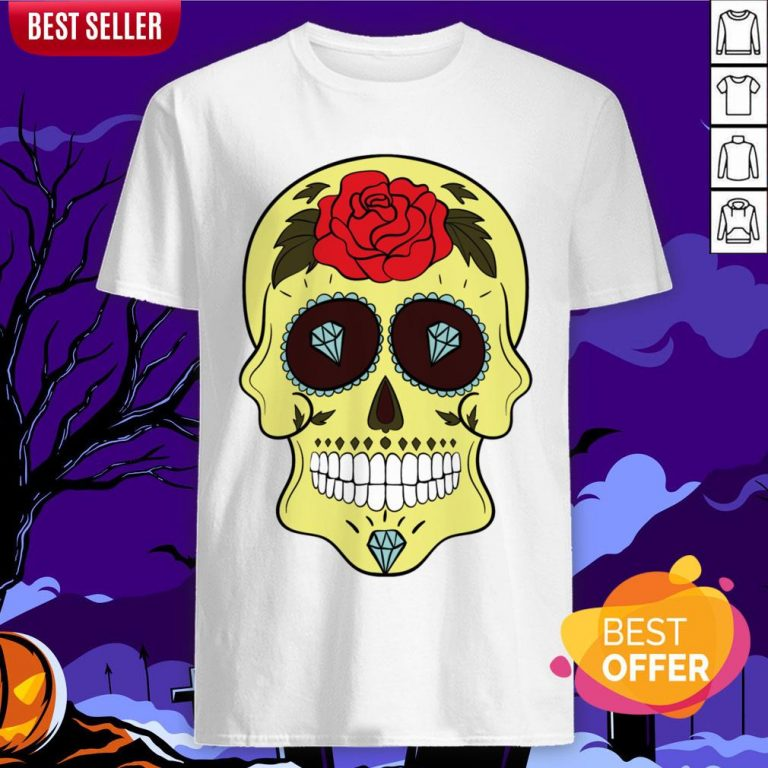 Tattoo Diamond Sugar Skulls Mardi Gras Dia De Muertos Shirt