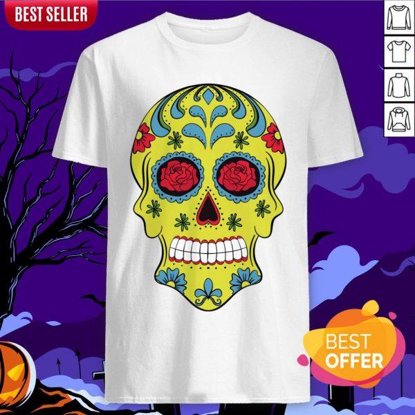 Tattoo Rose Sugar Skulls Mardi Gras Day Of The Dead Muertos Shirt