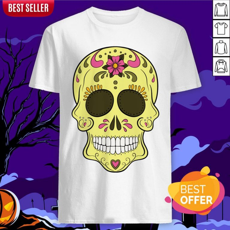Tattoo Sugar Skulls Mardi Gras Day Of The Dead Shirt
