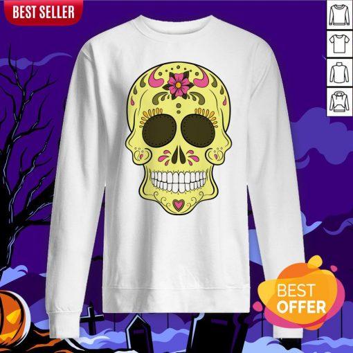 Tattoo Sugar Skulls Mardi Gras Day Of The Dead Sweatshirt