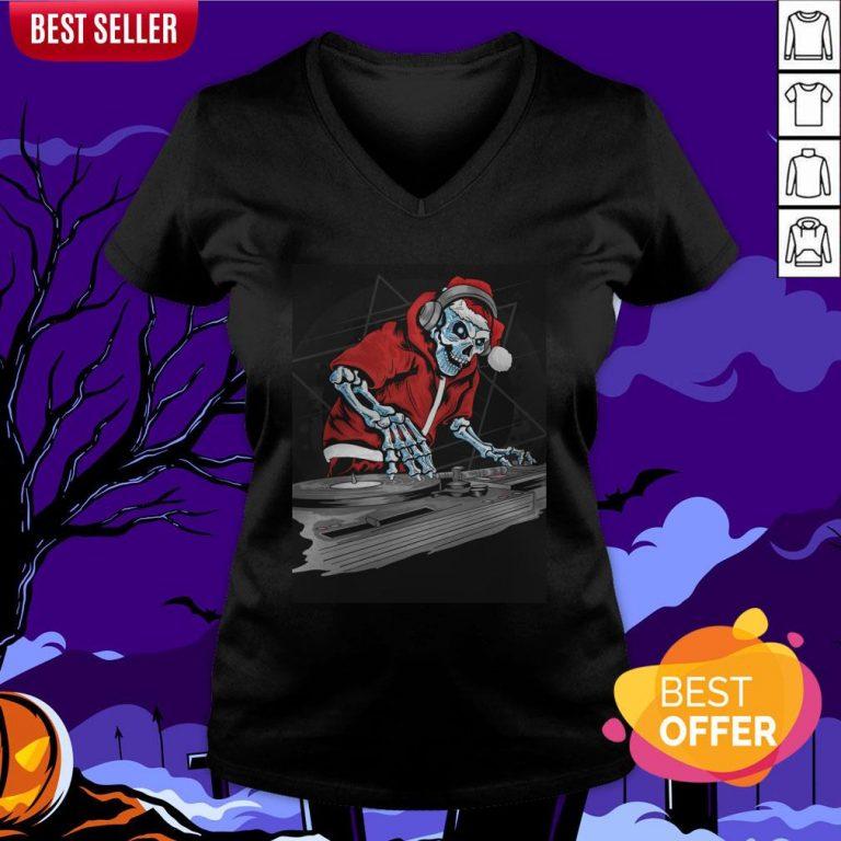 This Halloween Skeleton Party Time Dia De Muertos Day Dead V-neck