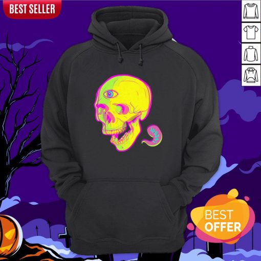 Trippy Sugar Skull Day Of The Dead Hoodie