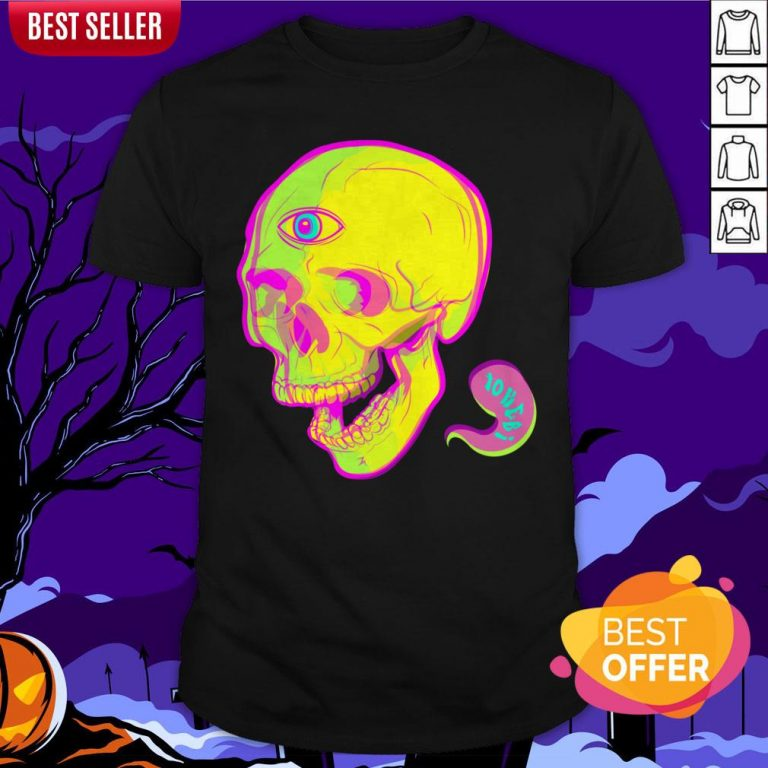 Trippy Sugar Skull Day Of The Dead Shirt