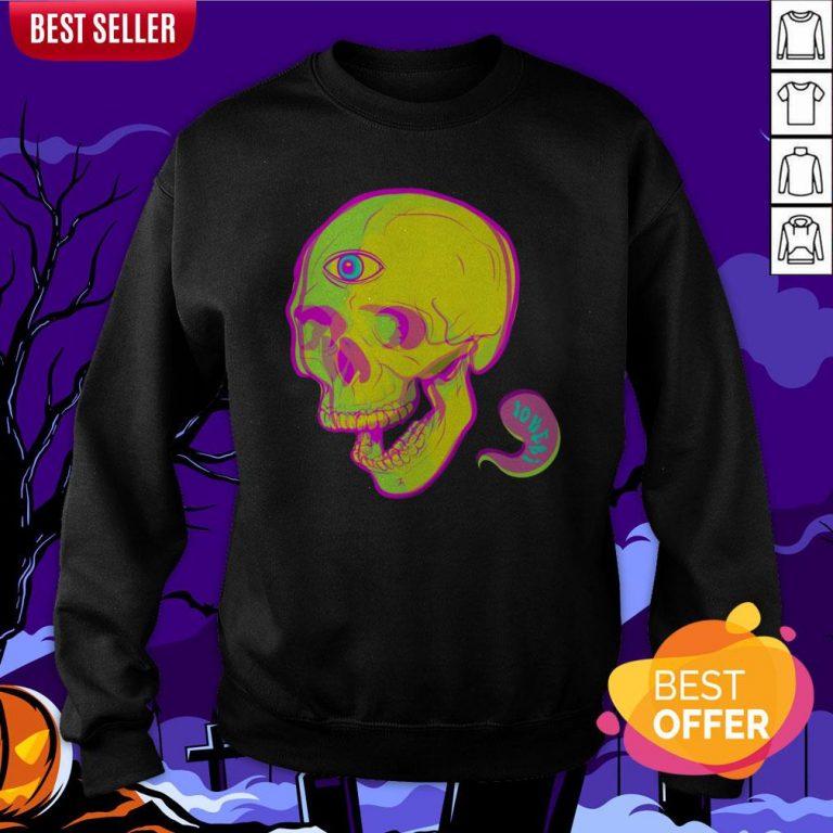 Trippy Sugar Skull Day Of The Dead Sweatshirt