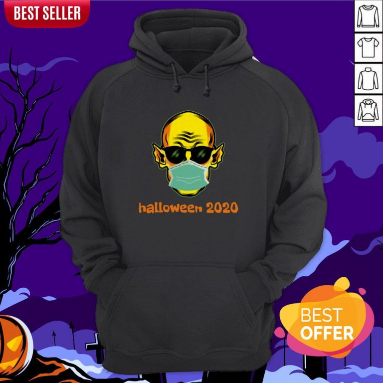 Vampire Face Mask Halloween 2020 Quarantined Hoodie
