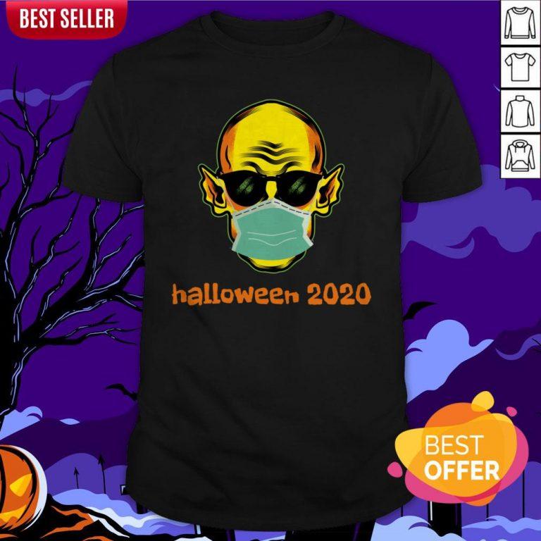 Vampire Face Mask Halloween 2020 Quarantined Shirt