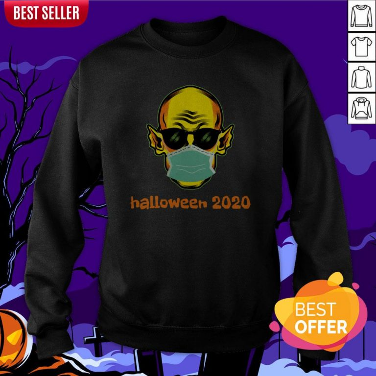 Vampire Face Mask Halloween 2020 Quarantined Sweatshirt