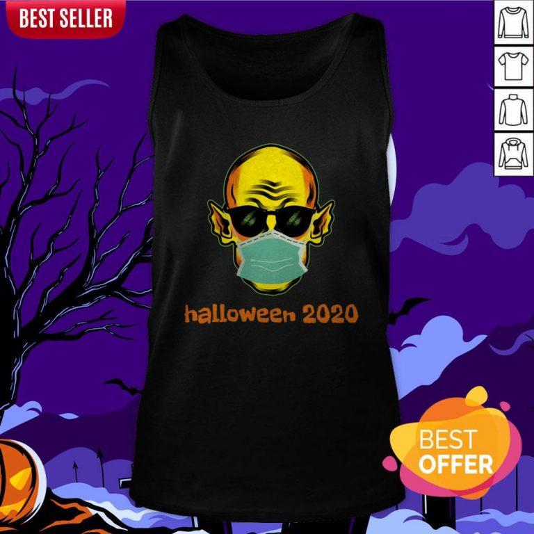 Vampire Face Mask Halloween 2020 Quarantined Tank Top