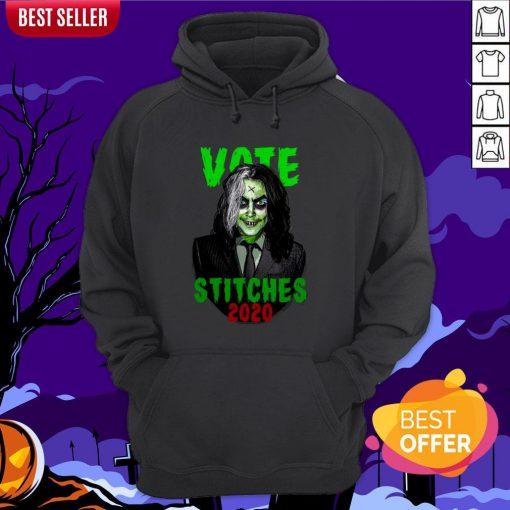 Vote Stitches 2020 Spooky Halloween Vintage Hoodie