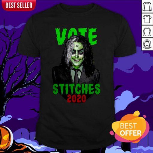 Vote Stitches 2020 Spooky Halloween Vintage Shirt