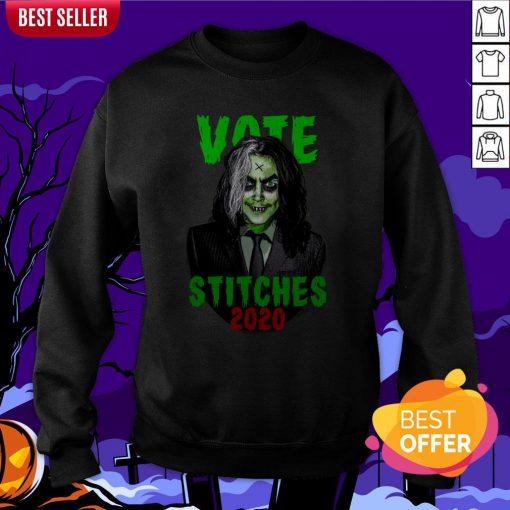 Vote Stitches 2020 Spooky Halloween Vintage Sweatshirt